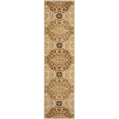 Dorothy Hand-Tufted Wool Gold/Light Brown Indoor/Outdoor Area Rug Rug Size: Runner 23 x 9