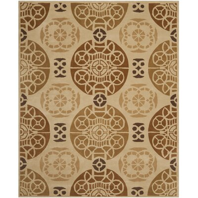Dorothy Hand-Tufted Wool Gold/Light Brown Indoor/Outdoor Area Rug Rug Size: Rectangle 8 x 10