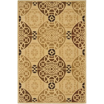 Camden Gold / Light Brown Area Rug Rug Size: 6 x 9