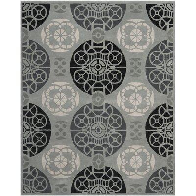 Dorothy Grey / Black Area Rug Rug Size: Rectangle 8 x 10