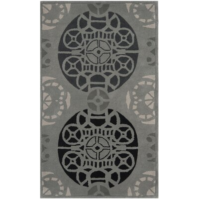 Dorothy Grey / Black Area Rug Rug Size: Rectangle 8 x 10