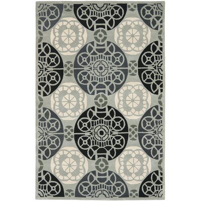 Dorothy Grey / Black Area Rug Rug Size: 6 x 9