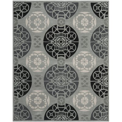Camden Grey / Black Area Rug Rug Size: 8 x 10