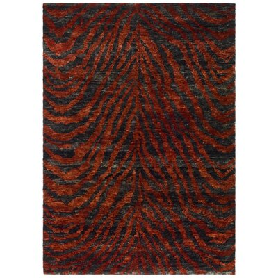 Parisi Red/Black Area Rug Rug Size: 9 x 12