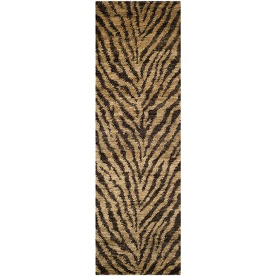 Parisi Natural/Black Area Rug Rug Size: Rectangle 6 x 9