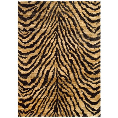 Parisi Natural/Black Area Rug Rug Size: 4 x 6