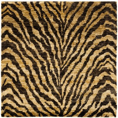 Parisi Natural/Black Area Rug Rug Size: Square 6