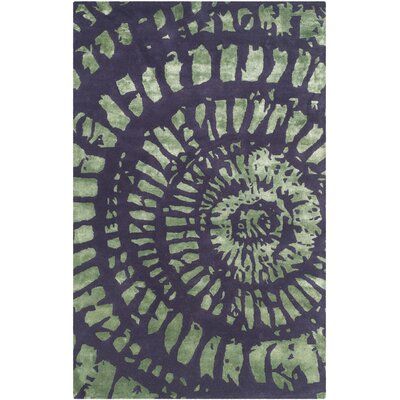 Camden Lavender/Sage Area Rug Rug Size: Rectangle 4 x 6