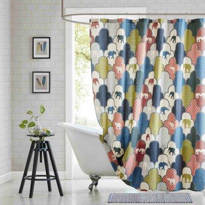 Oualmas Cotton Printed Shower Curtain