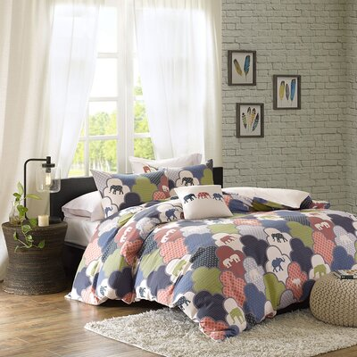Oualmas 4 Piece Duvet Set Size: King