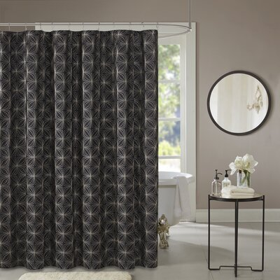 Dorida Polyester Shower Curtain Color: Black