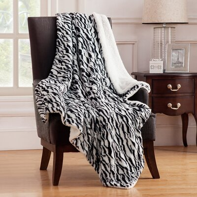 Juhi Animal Faux Fur Throw