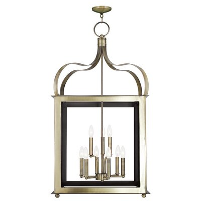 Robertson 9-Light Foyer Pendant Finish: Antique Brass