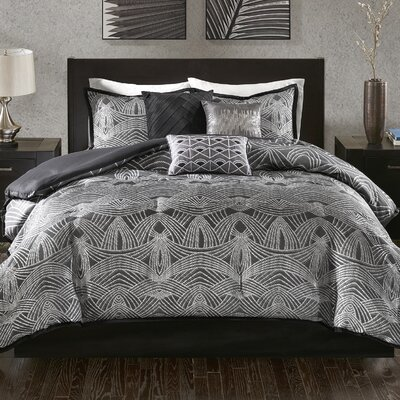 Laarous 7 Piece Comforter Set Size: King