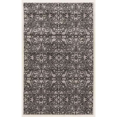 Allicia Gray/Black Area Rug