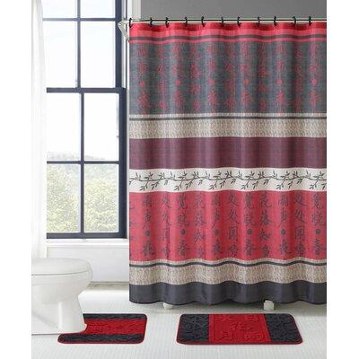 Dubenky 3 Piece Shower Curtain Set