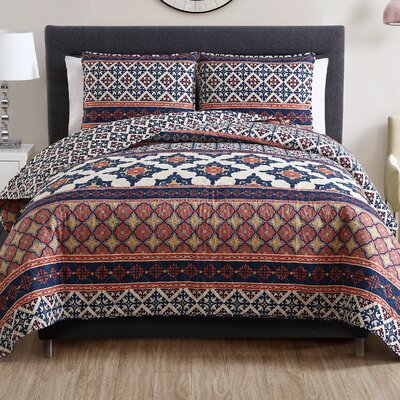 Enassiri 3 Piece Quilt Set Size: King