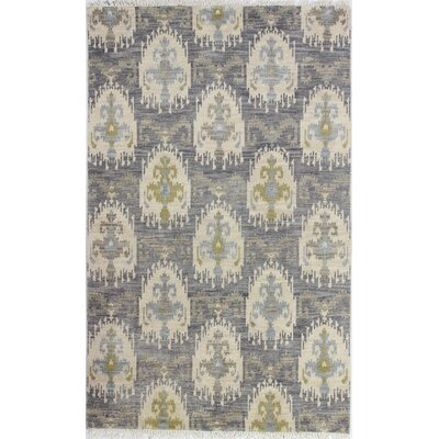 Epping Hand-Knotted Grey Area Rug Rug Size: 36 x 56