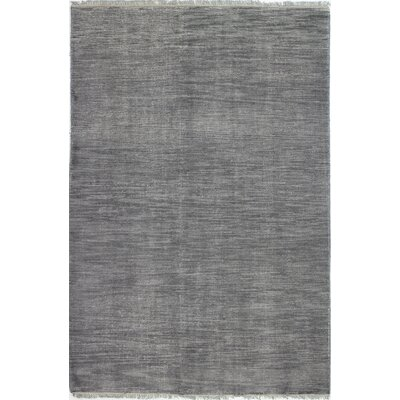 Cristhian Hand-Knotted Wool Grey Area Rug Rug Size: 76 x 96