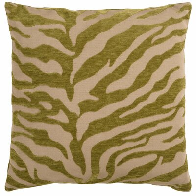 Khaldoun Pillow Cover Size: 18 H x 18 W x 0.25 D, Color: Tan/Dark Green