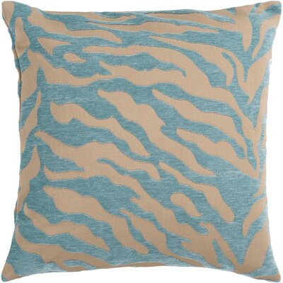 Khaldoun Pillow Cover Size: 18 H x 18 W x 0.25 D, Color: BrownBlue