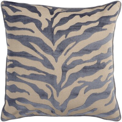 Khaldoun Pillow Cover Size: 18 H x 18 W x 0.25 D, Color: BrownGray