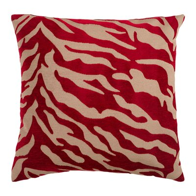 Khaldoun Zebra Velvet Throw Pillow Cover Size: 22 H x 22 W x 0.25 D, Color: BrownRed