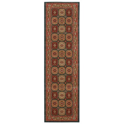 Quoizel Gold/Red Area Rug Rug Size: Runner 22 x 76