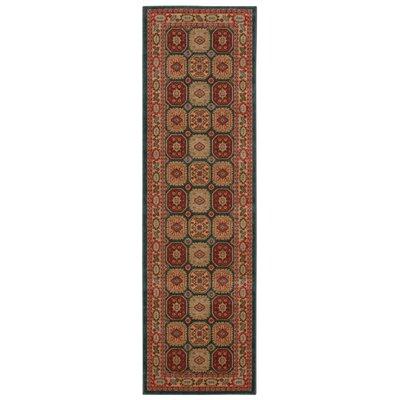 Fekhara Gold/Red Area Rug Rug Size: Runner 22 x 76