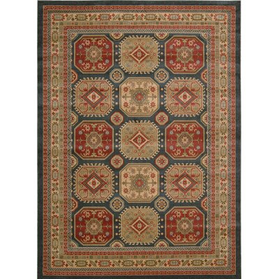 Quoizel Gold/Red Area Rug Rug Size: 53 x 74