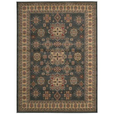 Quoizel Gray/Gold Area Rug Rug Size: 5'3