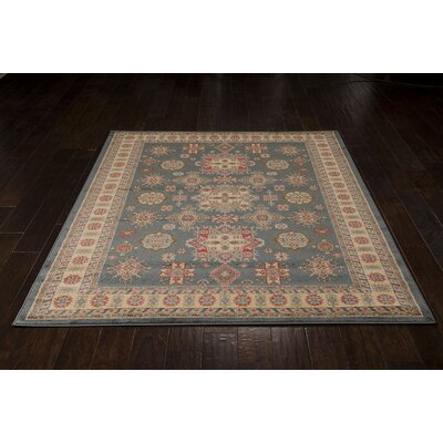 Garney Gray/Gold Area Rug Rug Size: Rectangle 93 x 129