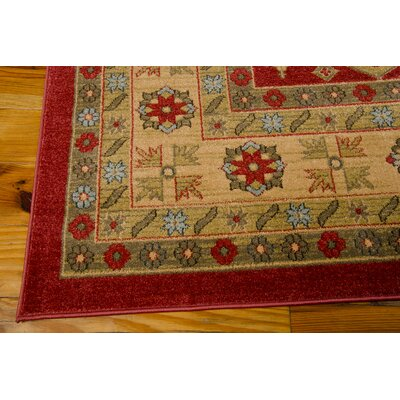 Garney Red Area Rug Rug Size: Rectangle 53 x 74