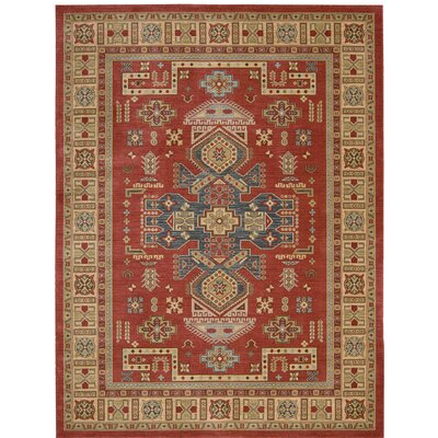 Quoizel Red/Beige Area Rug Rug Size: 39 x 59