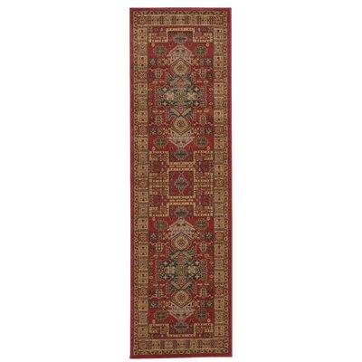 Fekhara Red/Beige Area Rug Rug Size: Runner 22 x 76
