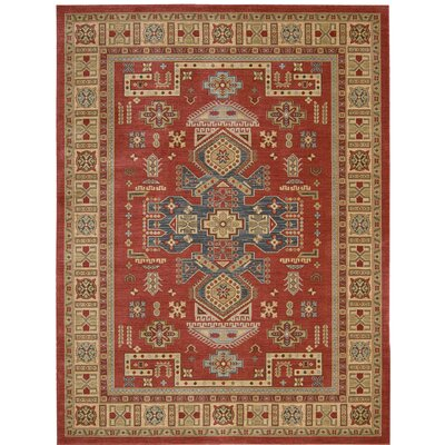 Quoizel Red/Beige Area Rug Rug Size: Rectangle 93 x 129