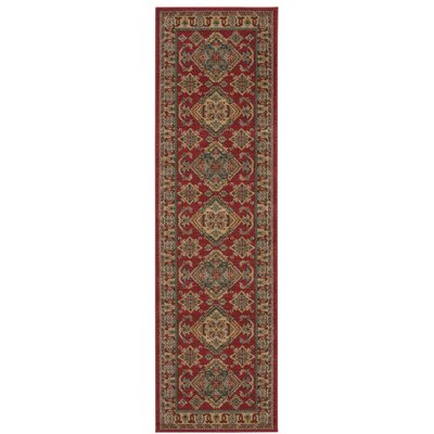 Quoizel Red/Gold Area Rug Rug Size: Runner 22 x 76