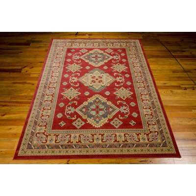 Quoizel Red/Gold Area Rug Rug Size: Rectangle 39 x 59