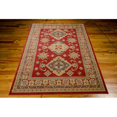 Quoizel Red/Gold Area Rug Rug Size: 710 x 1010