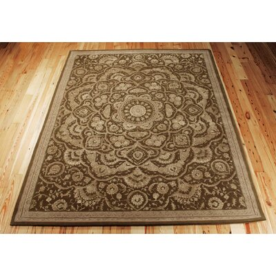Riggs Hand-Woven Chocolate Area Rug Rug Size: 99 x 139
