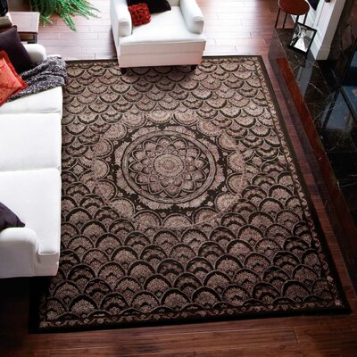 Riggs Espresso Area Rug Rug Size: Rectangle 99 x 139