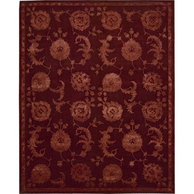 Riggs Hand-Woven Garnet Area Rug Rug Size: 99 x 139