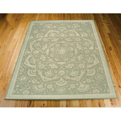 Gladsaxe Hand-Tufted Green Area Rug Rug Size: 86 x 116