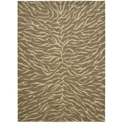 Glendale Fur Chocolate/Beige Rug Rug Size: 53 x 75