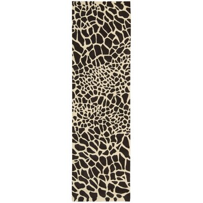Goulmima Hand-Woven Black/Ivory Area Rug Rug Size: Runner 23 x 8