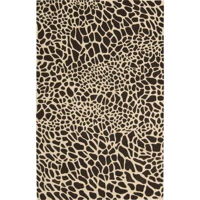 Goulmima Hand-Woven Black/Ivory Area Rug Rug Size: 8 x 11