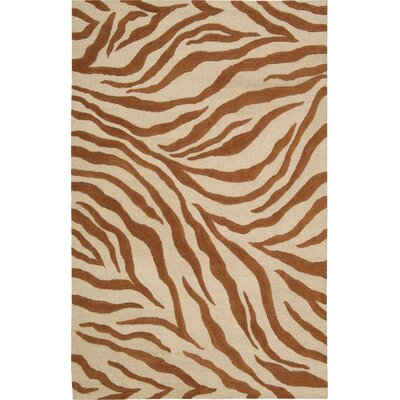 Goulmima Ivory/Rust Area Rug Rug Size: 76 x 96
