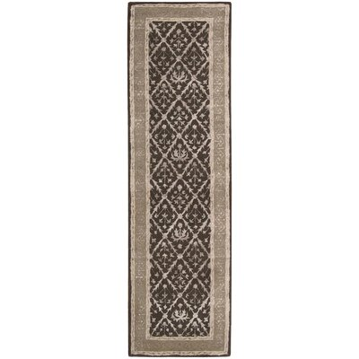 Koutio Charcoal Area Rug Rug Size: Runner 23 x 8