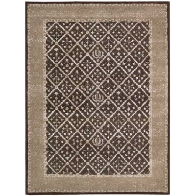 Koutio Charcoal Area Rug Rug Size: 36 x 56