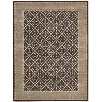 Veda Charcoal Area Rug Rug Size: Rectangle 56 x 75